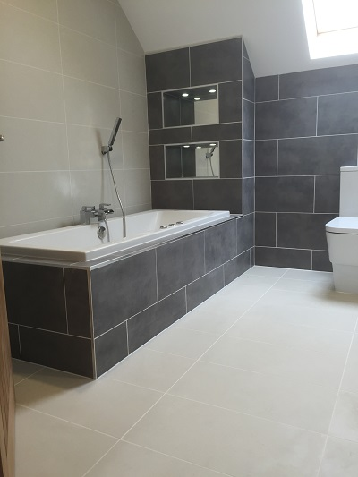 Design and refurbish family bathroom, convert to wetroom