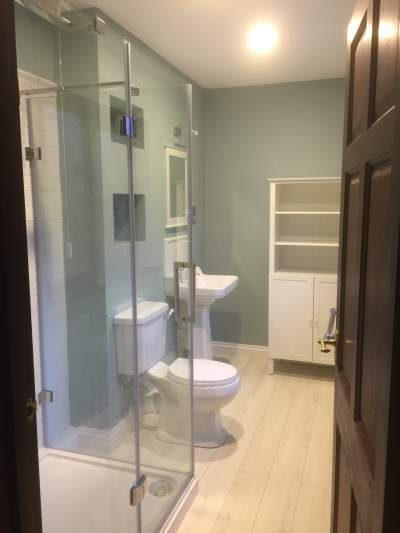 Ensuite shower room refurbishment in Kilgetty