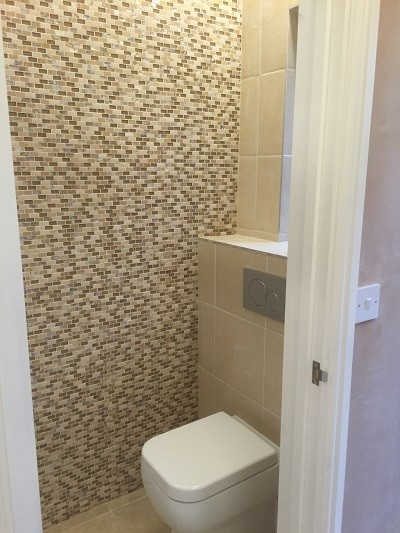 Shower room design and build in Tenby