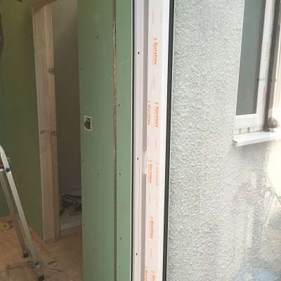 Plaster boarded